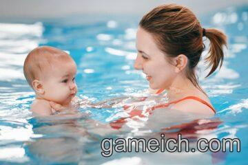 Baby swimming games